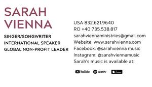 Sarah Vienna Ministries, web design, el dorado hills, folsom, creative design, sam deleon creative, business card design