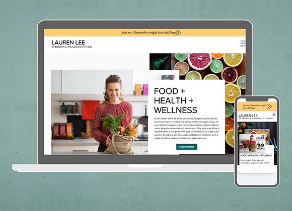 Lauren Wix Website Template