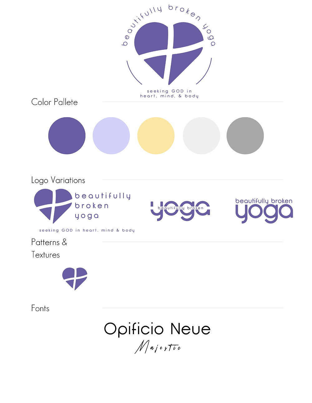 Beautifully Broken Yoga, Holy Yoga, Graphic Design, Creative Designer, El Dorado Hills