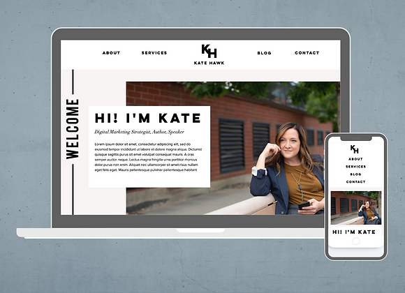 Kate Wix Website Template