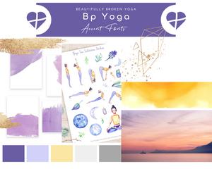 Beautifully Broken Yoga, Holy Yoga, Graphic Design, Creative Designer, El Dorado Hills