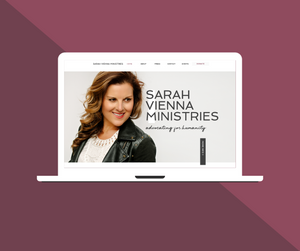 Sarah Vienna Ministries, web design, el dorado hills, folsom, creative design, sam deleon creative