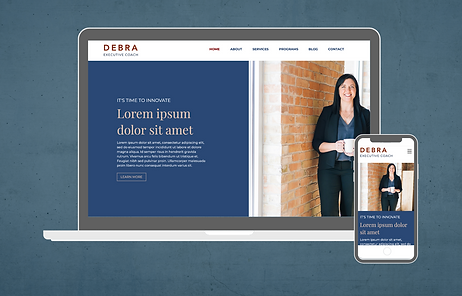 Wix Website Template for business coach.