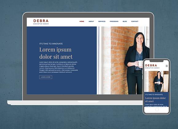 Debra Wix Website Template