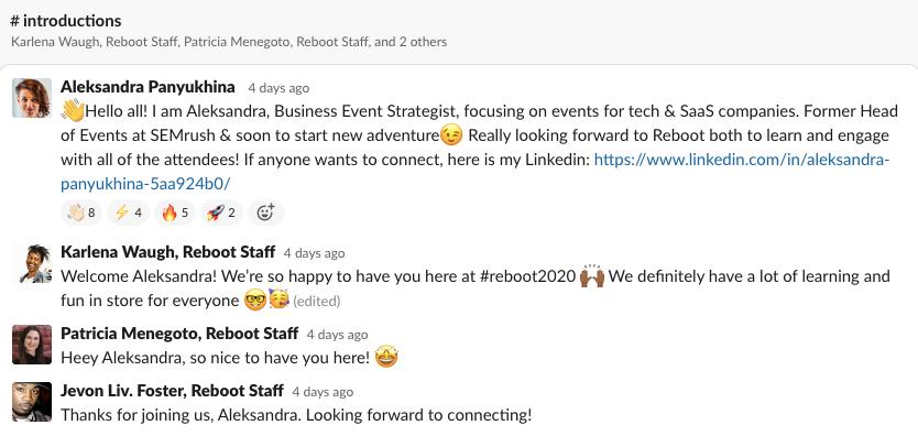 Reboot 2020 by Eventgeek Slack Channel