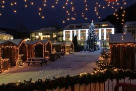 Julelandsbyen kveld i Kvinesdal