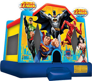 justice league jumping castle, superhero jumping castle,