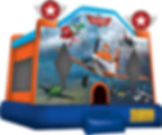 planes jumping castle