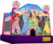 Disney princess jumping castle, princess jumping castle