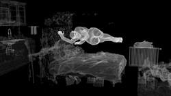扫描房间床上睡觉动画