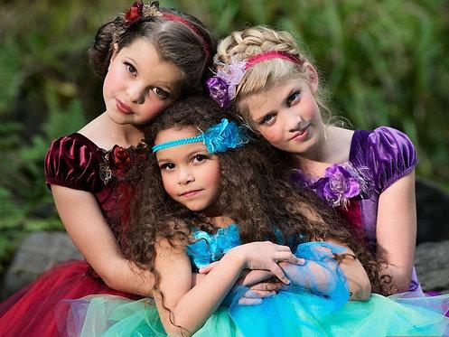 4 pc Fairy Princess Party Dress - Style 1