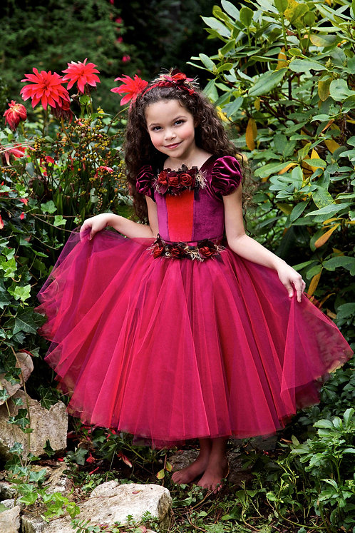 5 pc Deluxe Winter Rose Christmas Dress