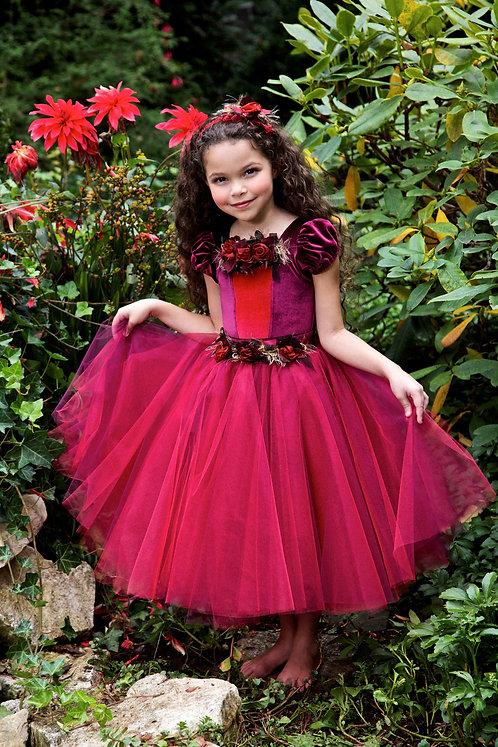 4 pc Winter Rose Christmas Dress