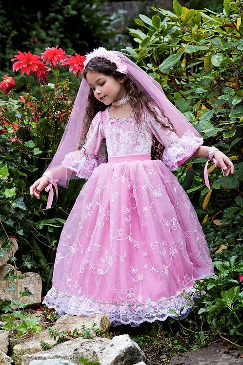 3 pc Rosette Princess Ballgown