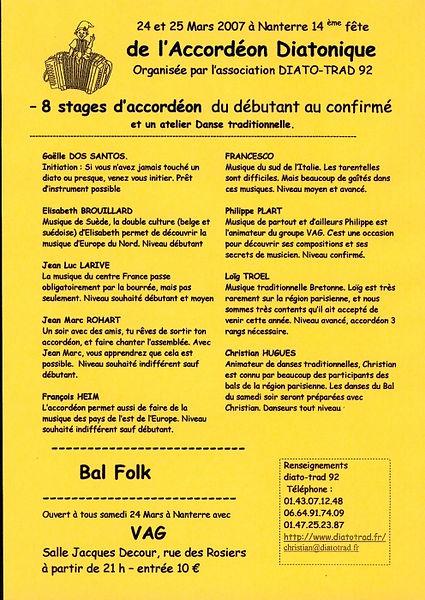 14e fête de l'accordéon (2007)