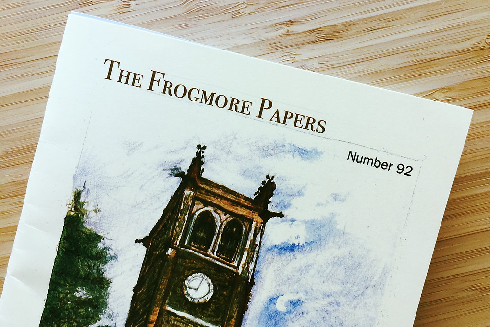 The Frogmore Papers issue 92 front cover