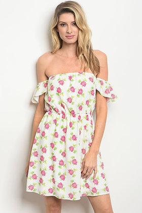 Womens Flower Print Dress