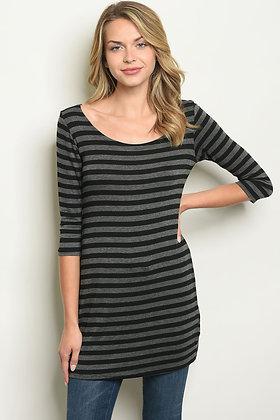 Charcoal  long sleeve Tee Dress