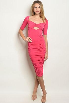 Womens Fuschia Dress