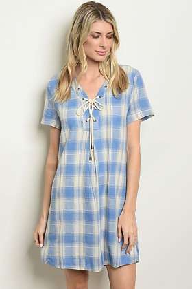Blue Ivory Checkers