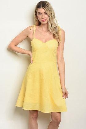 The Yellow Skater Dress