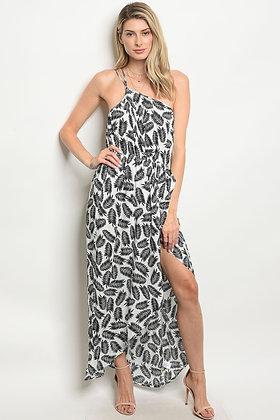 Off White Black Dress