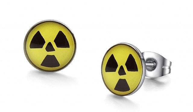 Nuclear Graphic Stud Earrings