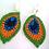 Thumbnail: Peacock feather  lever back earrings