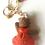 Thumbnail: Adorable girl teddy bear bag charm