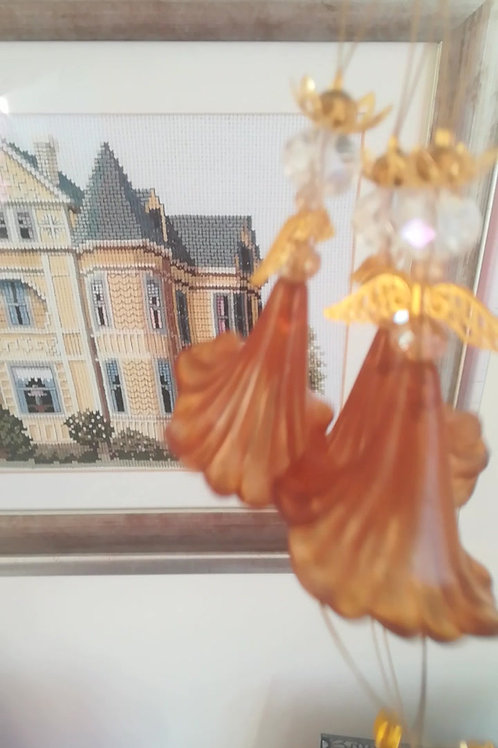 Gold Jingle Angels set (3)