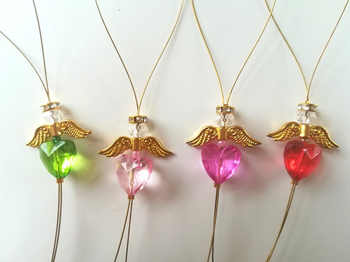 set of 3 Gold Angel Christmas ornaments