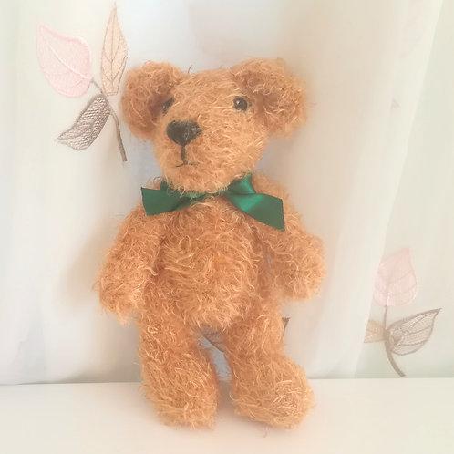 Fluffy Teddy Bear with emerald bow
