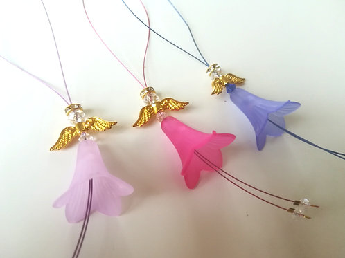 Small Gold Winged Angel Set (3)