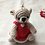 Thumbnail: Heart teddy bear bag charm