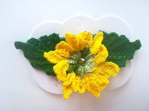 Irish Crochet Marigold  Brooch
