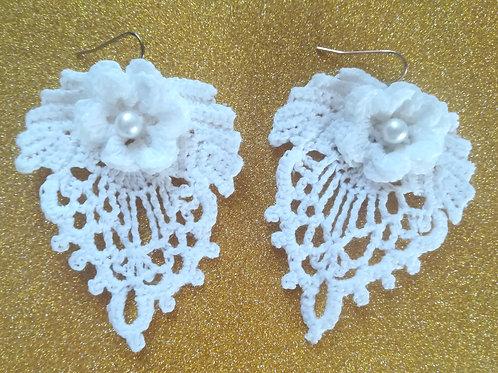 Irish Crochet Lace Bridal Earrings