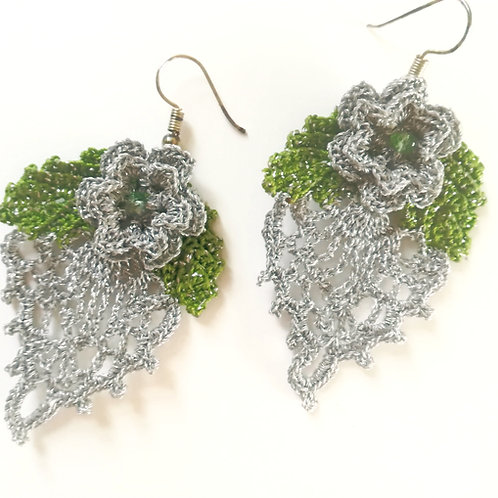 Irish Crochet Lace Earrings
