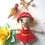 Thumbnail: Small girl in red dress Bag Charm