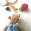 Thumbnail: Adorable girl teddy bear bag charm