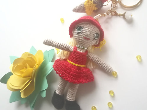 Small girl in red dress Bag Charm