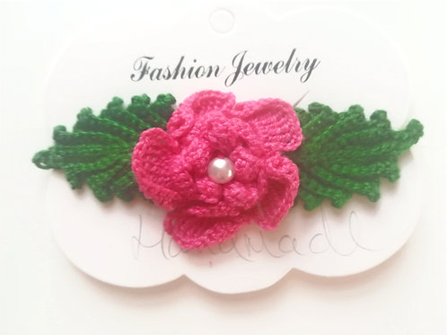 Irish Crochet Flower Brooch