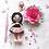 Thumbnail: Small girl in pink dress Bag Charm