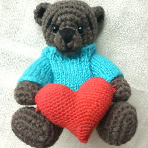 Teddy Bear in Handknit Jumper