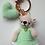 Thumbnail: Heart teddy bear bag charm
