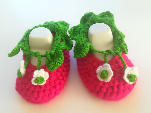 Berry Booties  3 -6 months