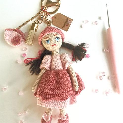 Pretty in Pink Girl bag charm