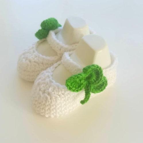 Irish Shamrock Baby Booties Newborn