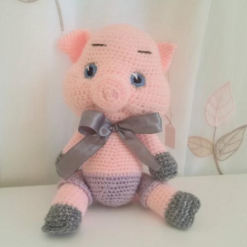 Pretty Pink Pig Plushie