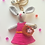 Thumbnail: Gray rabbit bag charm