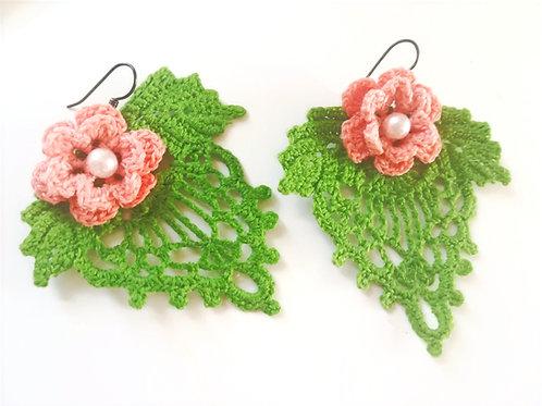 Irish Crochet Lace Earrings